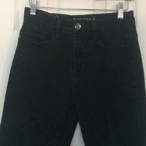 Denim - High waisted mom jeans black